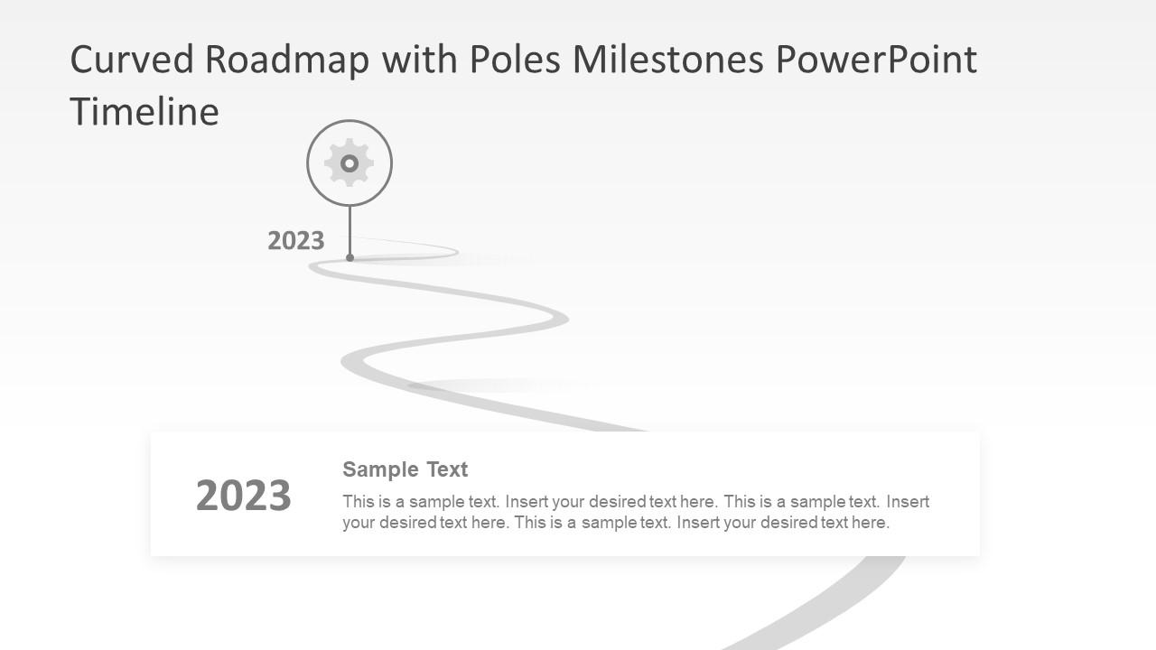 PPT Gears Slide Infographic Roadmap