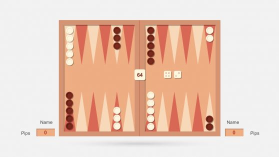 Backgammon Dice PowerPoint Slides