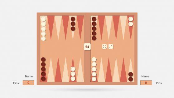 Backgammon Dice PowerPoint Slides