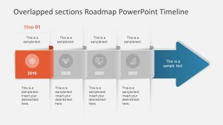 PPT Infographic Icons Overlapping