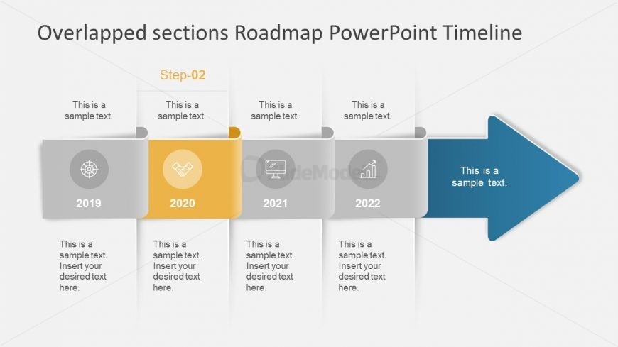 Arrow Concept PowerPoint Timeline