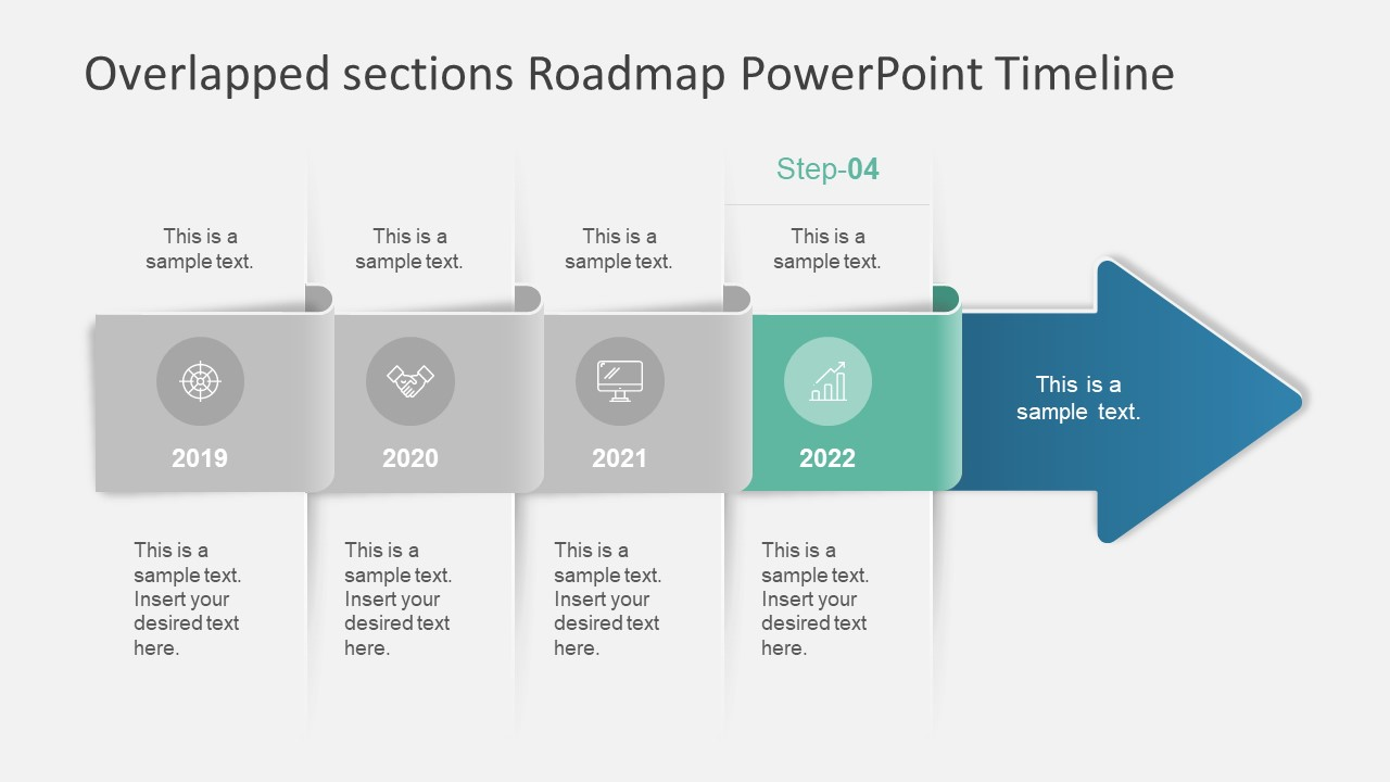 overlapped sections roadmap powerpoint timeline slidemodel. Black Bedroom Furniture Sets. Home Design Ideas