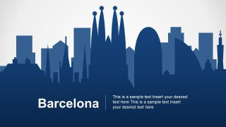 Barcelona City PowerPoint Map