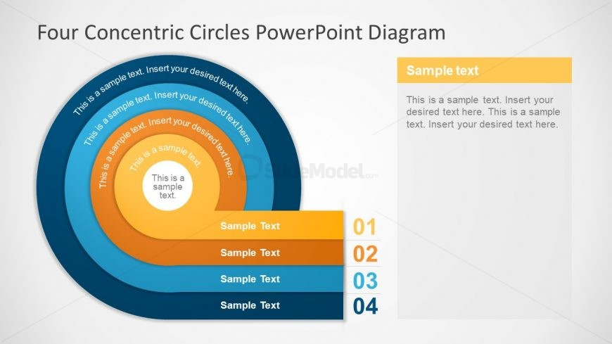 Powerpoint Diagram Of Concentric Circles Slidemodel