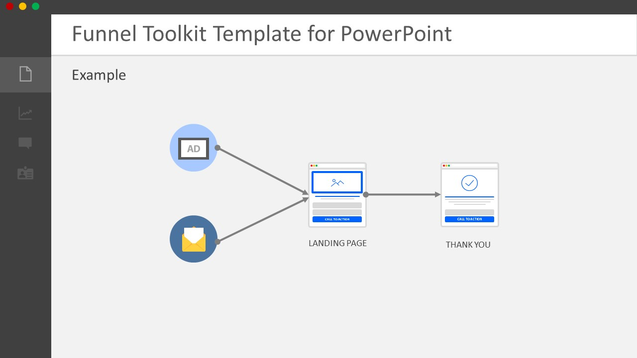 PowerPoint Horizontal Process Flow Diagram