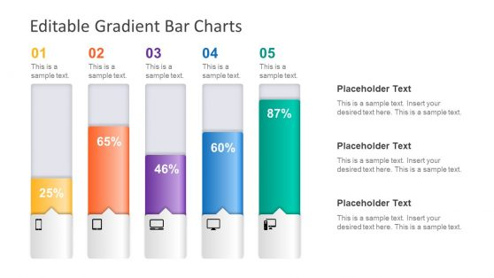 Diagram of Bar Chart Gradient Blocks