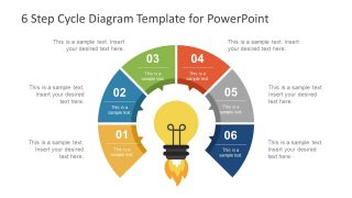 6 Step Cycle Diagram PowerPoint Template