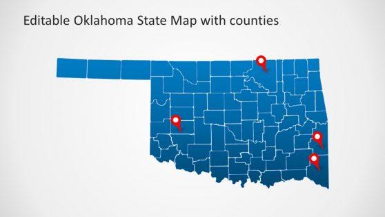 Editable Counties Map Slide