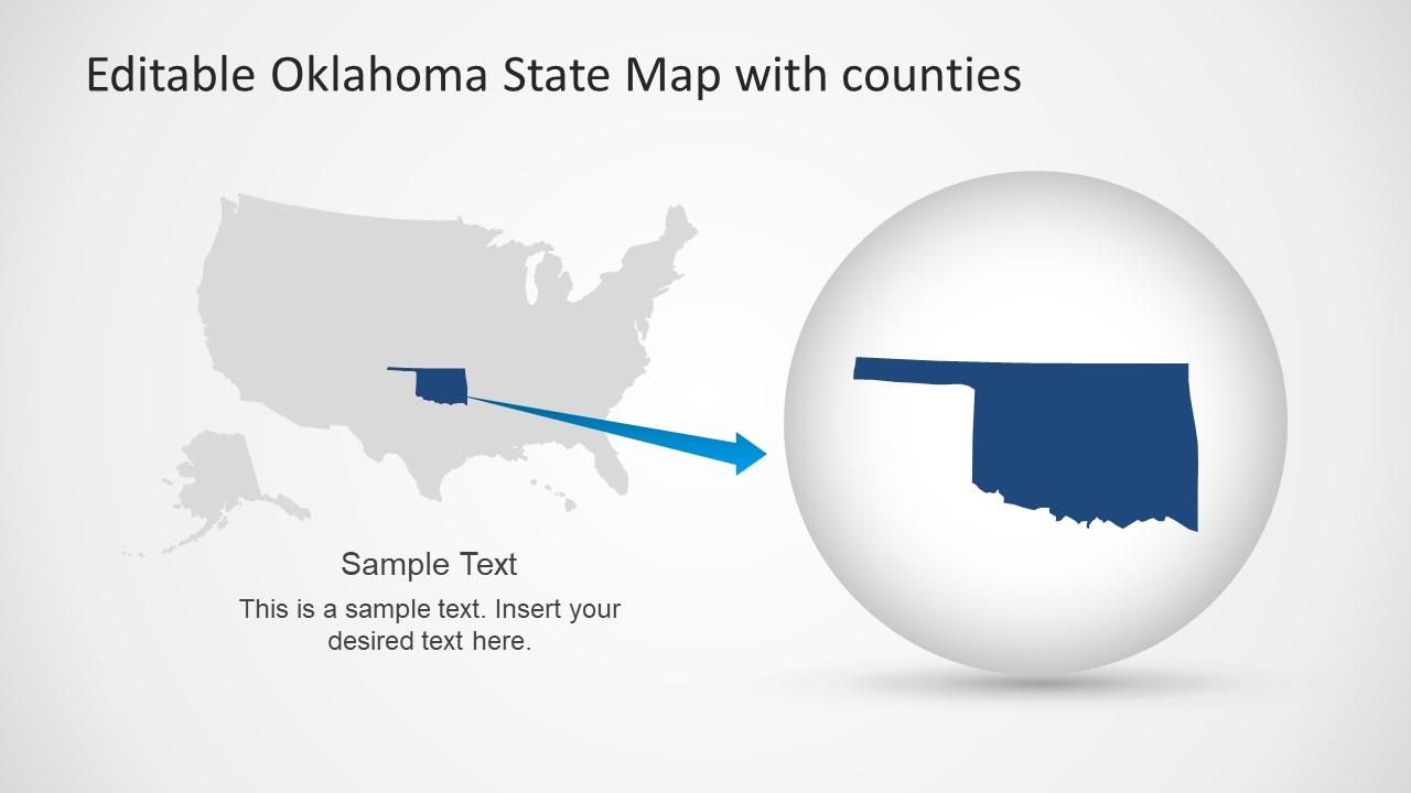Silhouette Map of Oklahoma