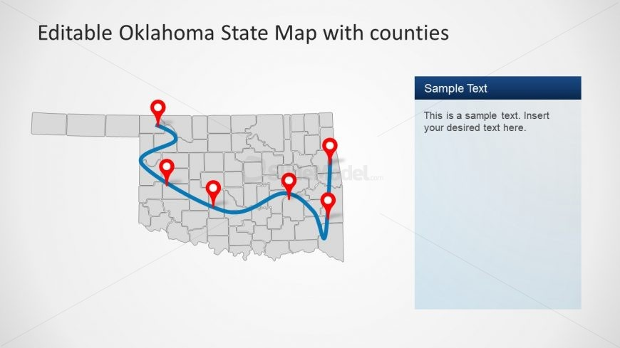 Geographical Map of Oklahoma