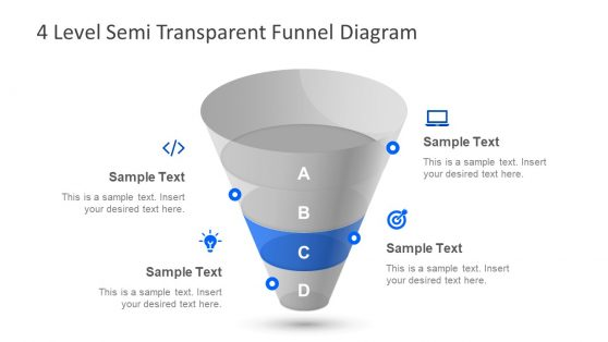 4 Step Funnel Diagram PowerPoint