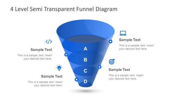 Editable Semi Transparent Funnel Presentation