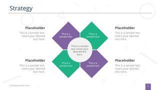 4 Segments Strategy Diagram Slide