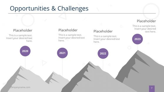 PowerPoint Mountain Design for Opportunities