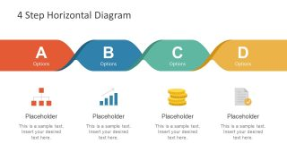 4 Step Horizontal Diagram for PowerPoint