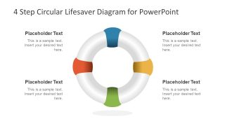 4 Step Circular Lifesaver Diagram for PowerPoint