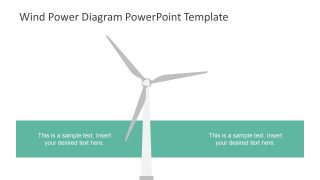 Template of Wind Turbine Clipart