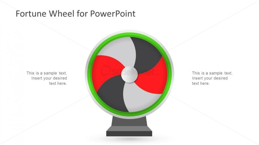 Powerpoint fortune wheel template slidemodel for Wheel of fortune game template for powerpoint