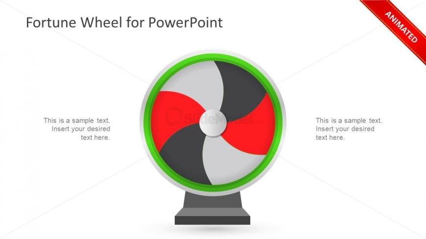 Slide of Spinning Fortune Wheel