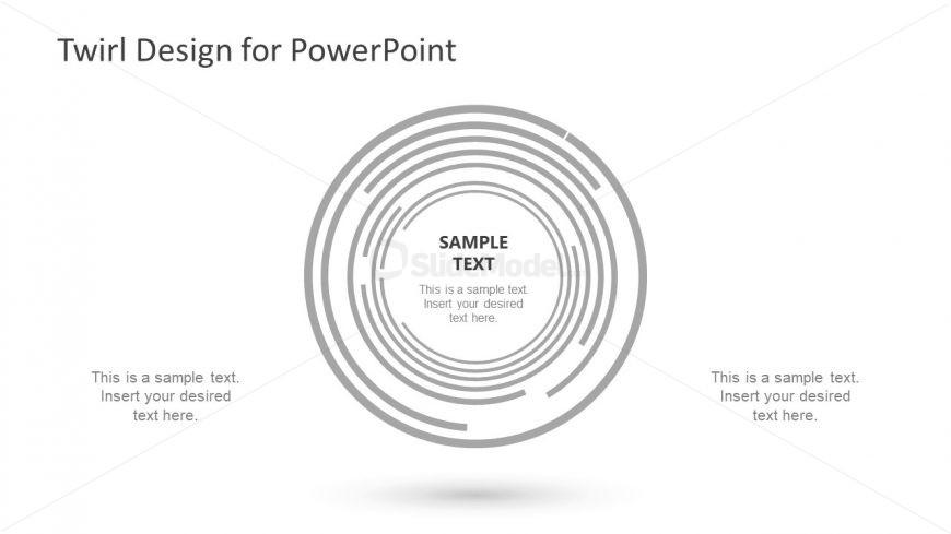 slide of twirl design