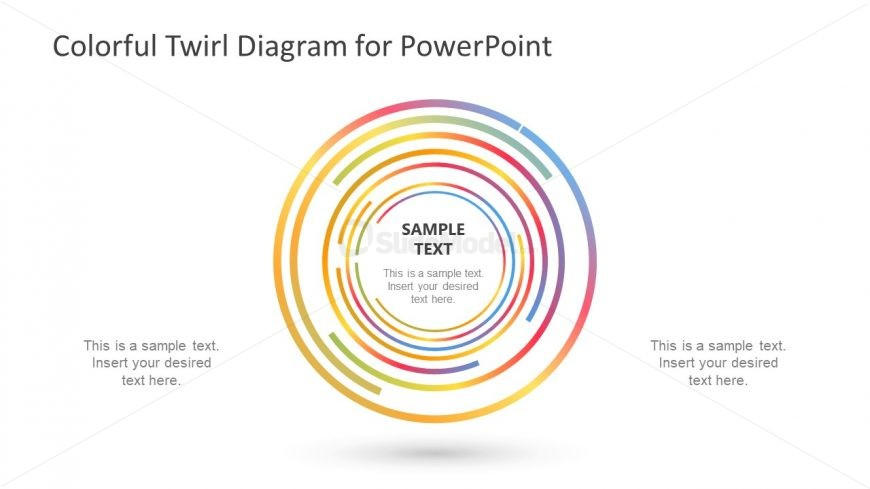 Gradient Swirl Diagram Template