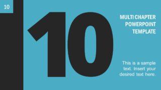 Number 10 Presentation Divider Template