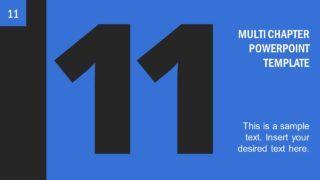Number 11 Presentation Divider Template