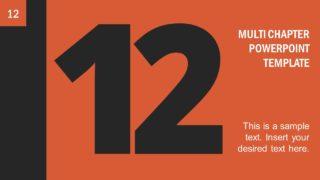 Number 12 Presentation Divider Template