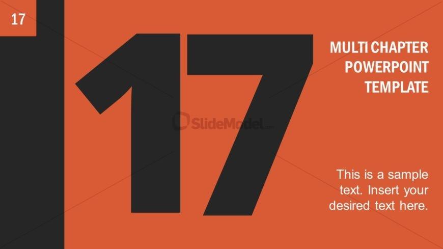 Number 17 Presentation Divider Template