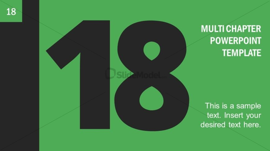 Number 18 Presentation Divider Template