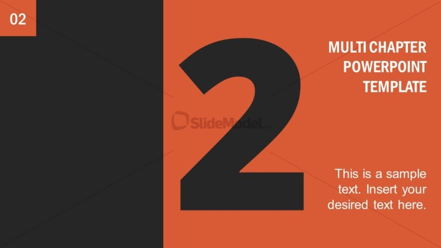 Number 2 Presentation Divider Template