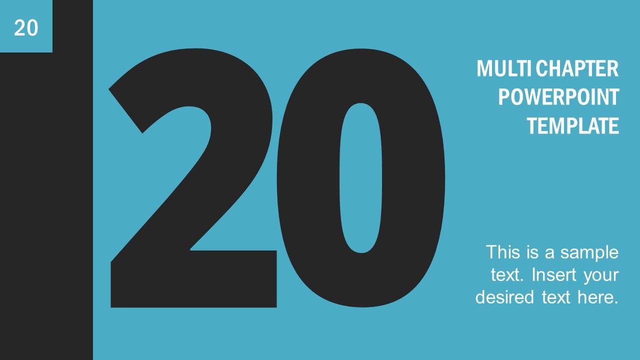 Number 20 Presentation Divider Template