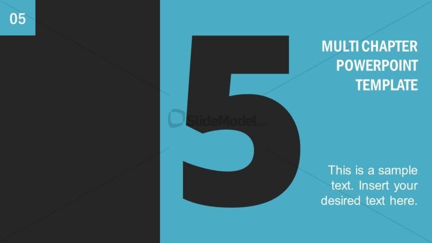 Number 5 Presentation Divider Template