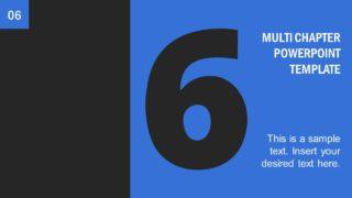 Number 6 Presentation Divider Template