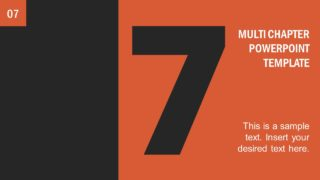 Number 7 Presentation Divider Template
