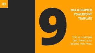 Number 9 Presentation Divider Template