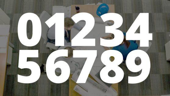 Slide of Editable Numbers