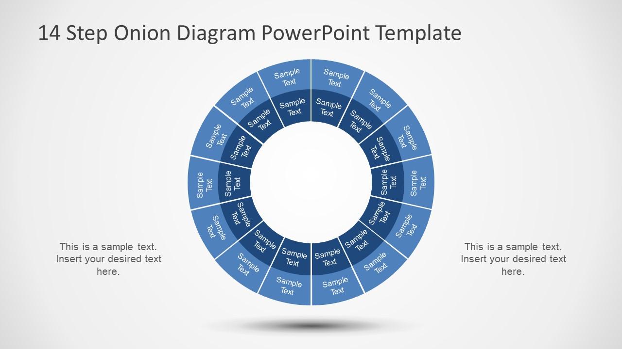 Circular Hierarchy Diagram Template
