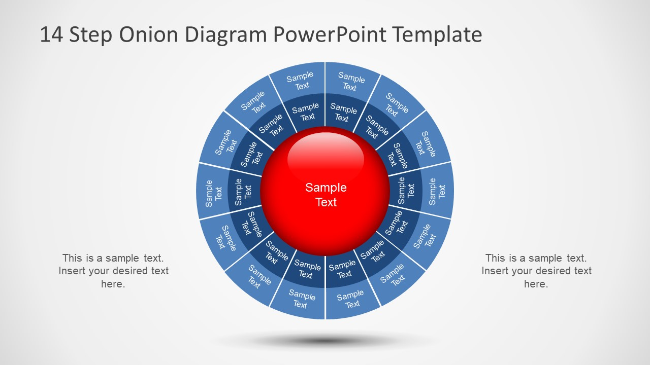 14 step onion diagram powerpoint template slidemodel circular hierarchy diagram template presentation of 14 steps onion chart ccuart Images