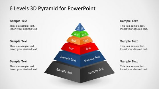 3D Template Pyramid 6 Levels