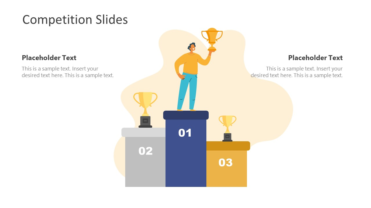 Competition Template 3 Positions Trophy Shape
