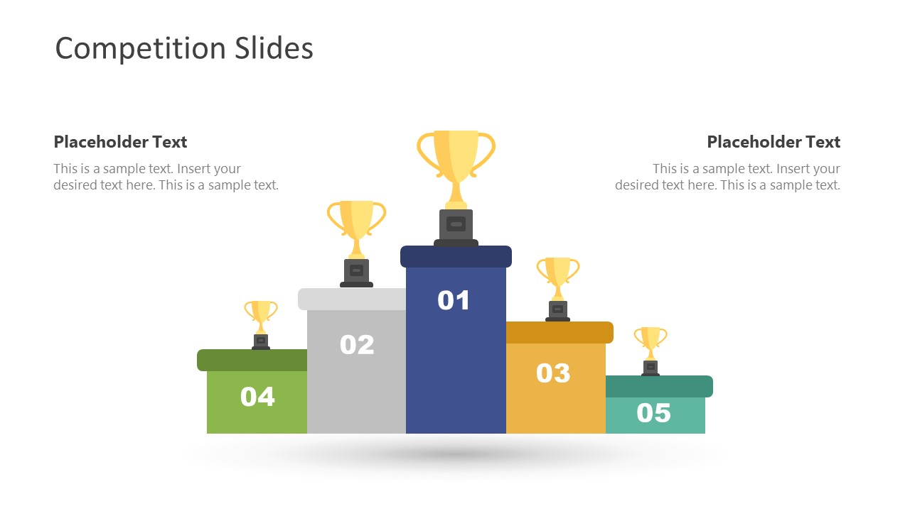 Competition Template 5 Positions Trophy Shape
