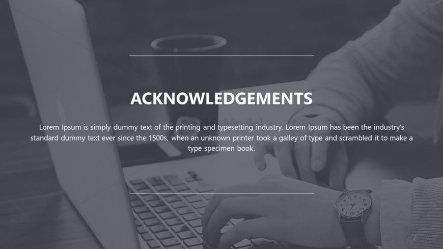Acknowledgment Template Slide for Thesis