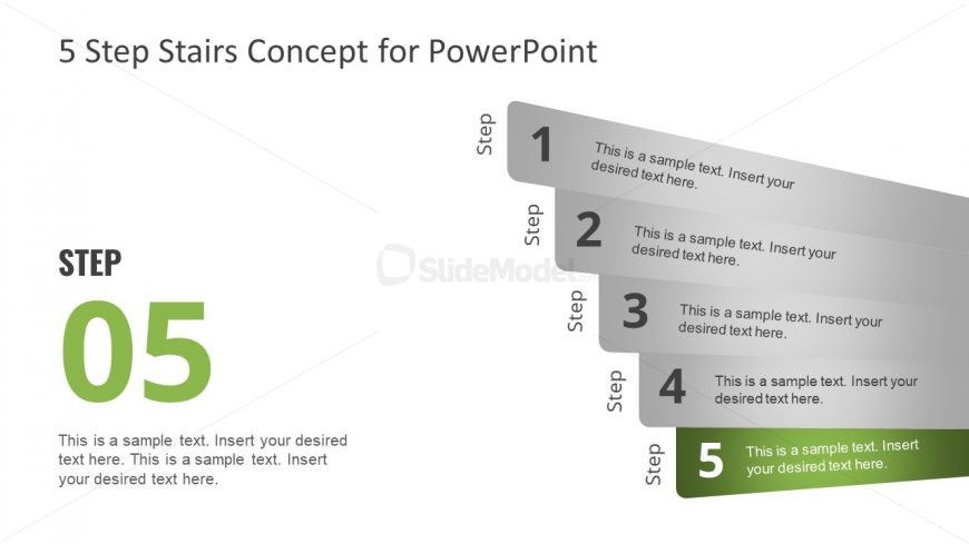 Layout of 5 Step PowerPoint Diagram