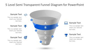 Slide of Clipart Funnel Diagram