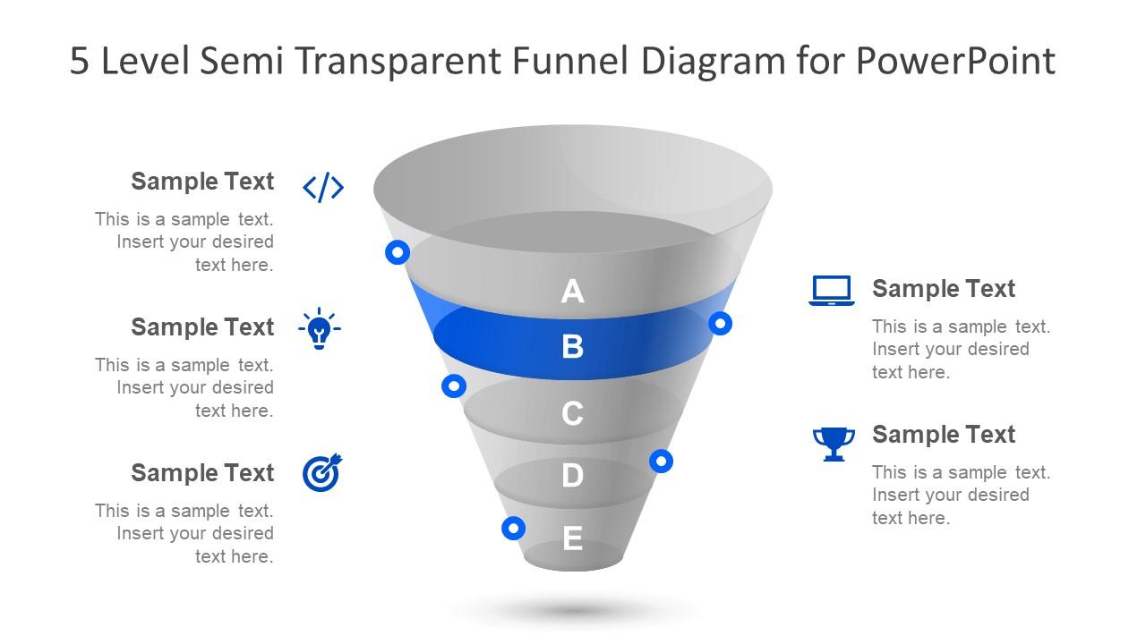 Slide of Clipart Funnel Diagram