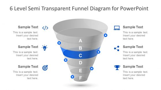 6 Level PowerPoint Funnel Diagram
