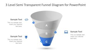 Semi Transparent Slide Design Funnel