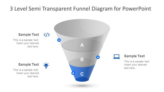PowerPoint Funnel Diagram 3 Level