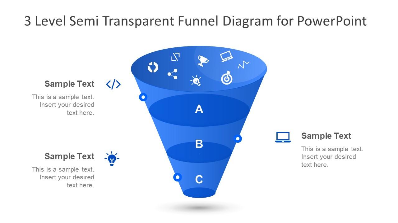 Funnel Diagram Presentation Transparent